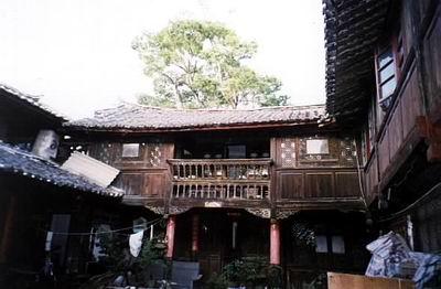 丽江古城建筑手绘图